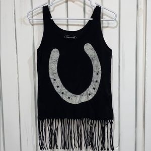 Women's Maurices Horseshoe Black Tank Top